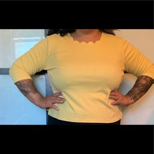 Scalloped yellow top